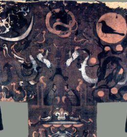 西汉 T形帛画 马王堆汉墓