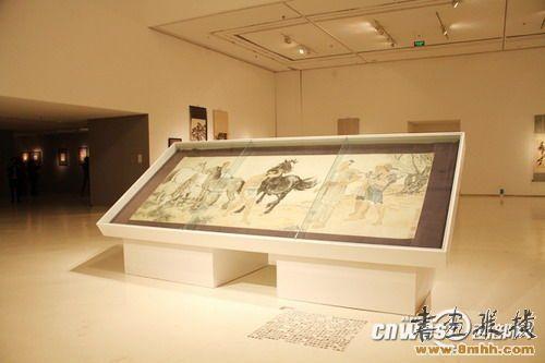 徐悲鸿精品画作西安美术馆展出,部分作品为国家一级文物。图为徐悲鸿真迹《九方皋》。