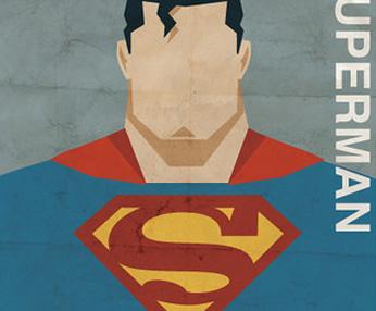 美国英雄复古插画设计