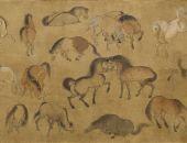 唐代绘画艺术专题展《唐人 百马图卷》
