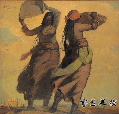 金色的季节》被中国美术馆收藏,并在近日举行的中国美术馆50周年馆庆中展出。 中央美术学院供图