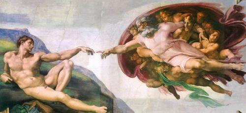 指尖的碰撞——米开朗基罗的《创造亚当》