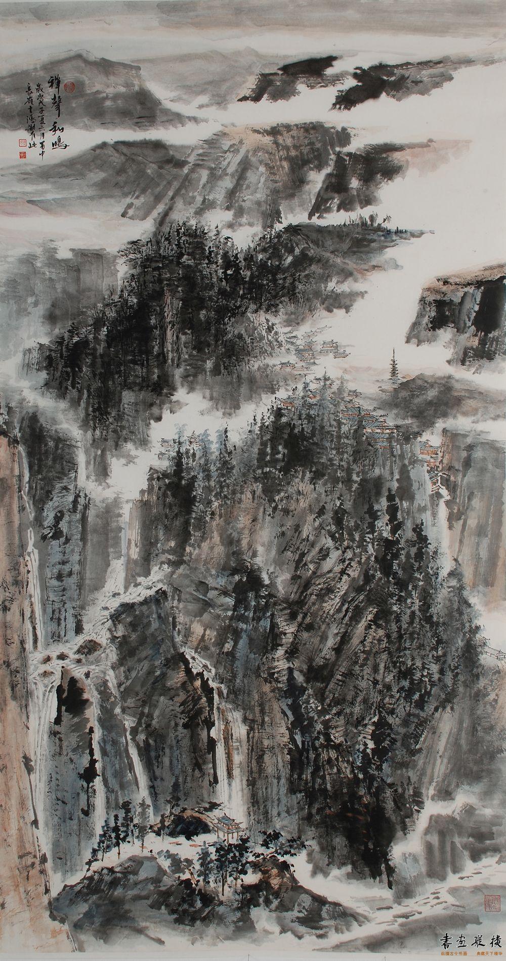 傅吉鸿 禅声和鸣(90×180cm)纸本水墨2008年