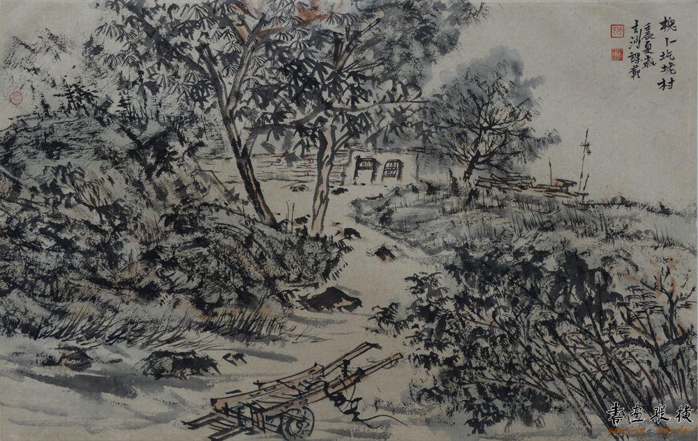 傅吉鸿 槐卜圪嶗75×50cm 纸本水墨2012年