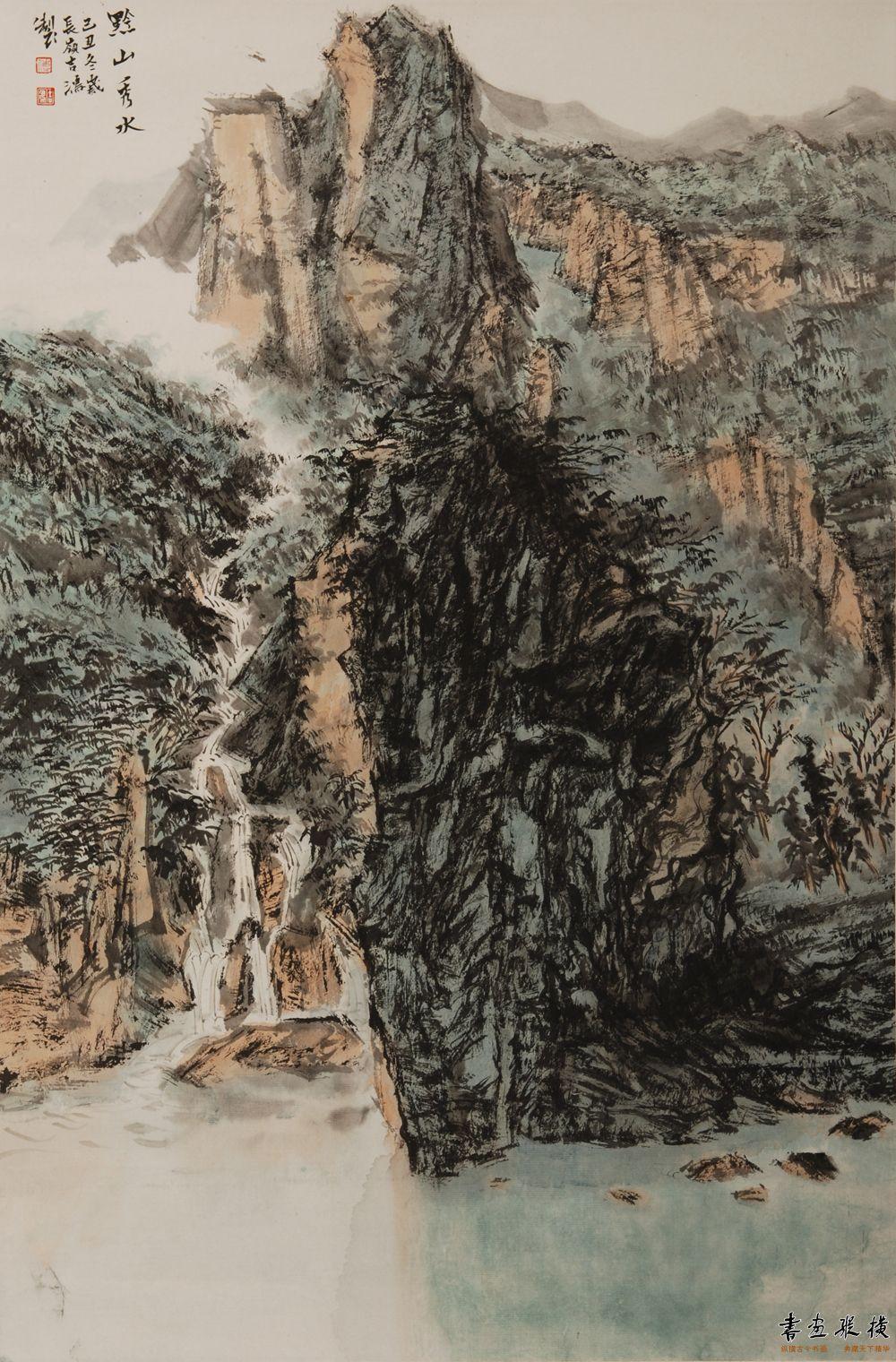 傅吉鸿 黔山秀水45.5×69.5cm 纸本水墨2009年