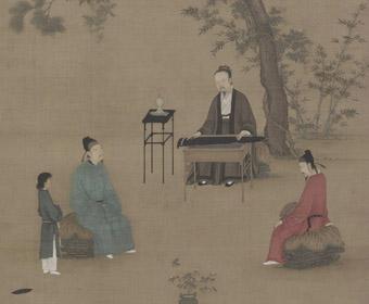 宋 赵佶 听琴图 故宫博物院藏
