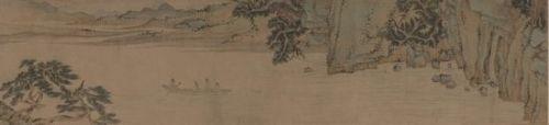 上海博物馆藏文徵明《赤壁赋图并书》(图部分)