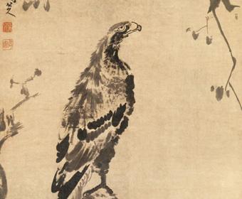 清 朱耷 双鹰图 美国大都会博物馆藏