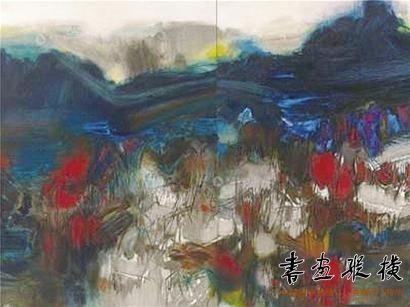 留法抽象画家朱德群作品拍卖