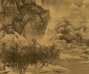 宋 范宽 雪景寒林图 天津博物馆藏