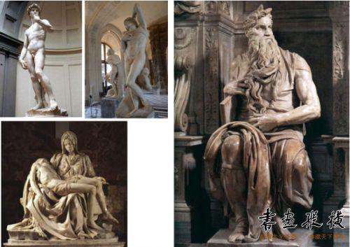 图5 米开朗基罗雕塑作品