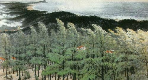 岭南画派代表人物关山月山水画欣赏图片