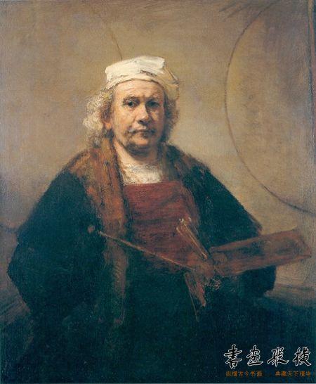 伦勃朗作品《有两个圈形的自画像》 114.3cmx94cm