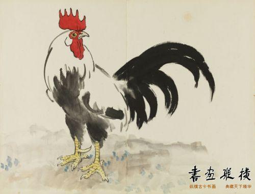 以《十二生肖册》见徐悲鸿动物画:睿智生趣