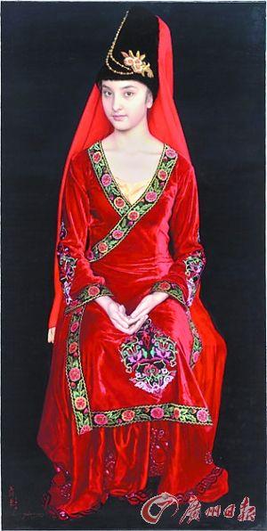 王沂东 《盛装的维吾尔族姑娘》