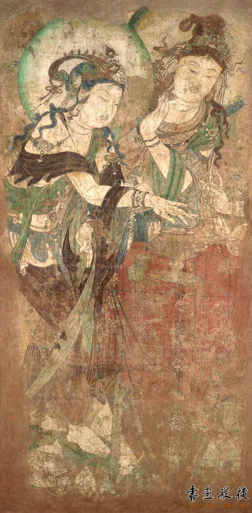 美得让人吃惊的《菩萨焚香图》,纳尔逊-艾金斯艺术博物馆藏