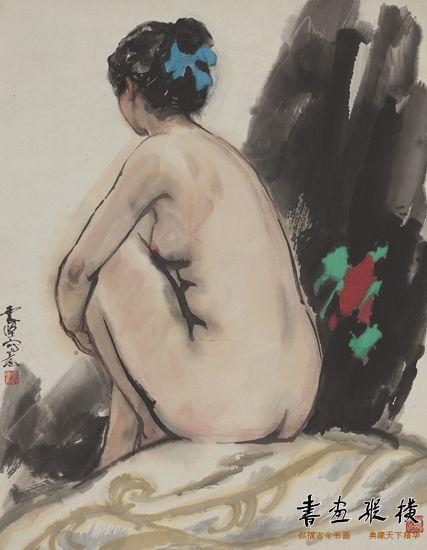 李震坚作品《女人体》(97cm×75cm)1980年代 浙江美术馆藏