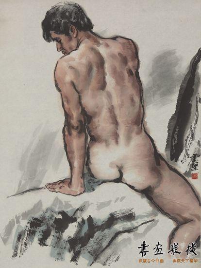 李震坚作品《男人体》(111.4cm×83.9cm)1980年 浙江美术馆藏