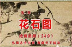 (349)清 朱耷 花石图 上海博物馆藏