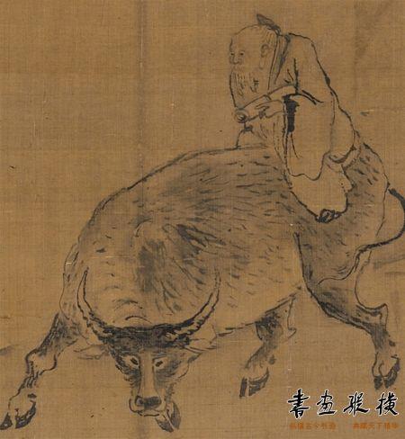 高其佩指画《牛背诵经图》