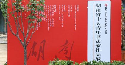 """北京水墨公益基金会提名""""湖南省十大青年书法家""""作品展在京开幕"""