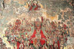山西洪洞水神庙壁画:祈雨图