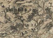 清 朱耷 山水图轴 美国弗利尔美术馆藏