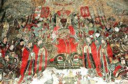 山西洪洞水神庙壁画:龙王行雨图