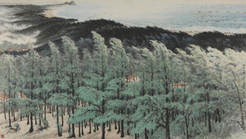 有人说黎雄才画的松树要比关山月的好,能这样比吗?