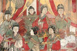山西洪洞水神庙壁画:王宫尚宝图