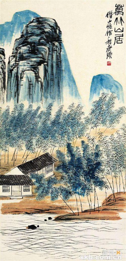 齐白石 万竹山居 北京画院藏