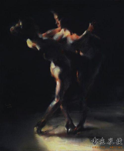 冯斌 《赤裸的探戈》之三   120 X 100 cm 2014年