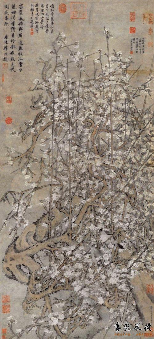 汤叔雅(传)《梅花双鹊图》