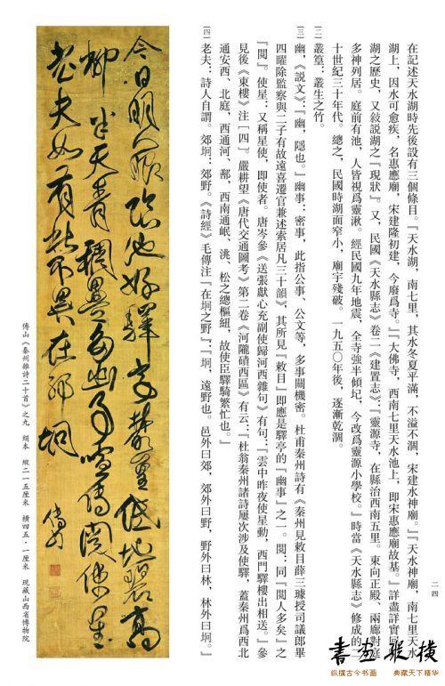 傅山《秦州杂诗二十首》之九,绢本,纵215厘米,横45.1厘米,现藏山西省博物院
