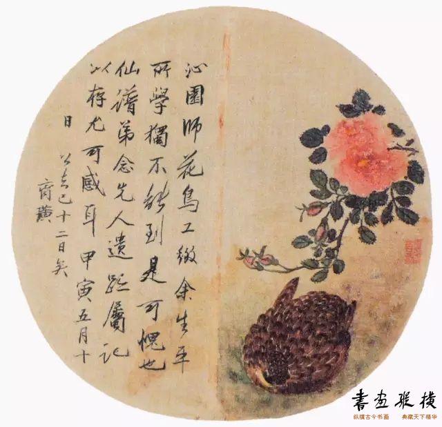工笔花鸟册(之一)胡沁园 纸本 设色 尺寸不详 无年款 辽宁省博物馆藏