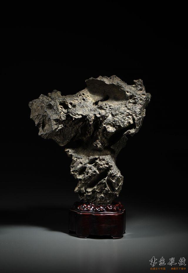2016西泠秋拍 清·英石供石摆件 带座高:48cm