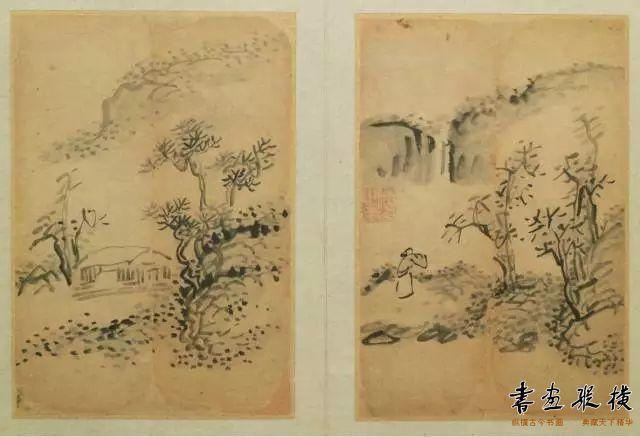 书画合册 6开 纸本 23.7×9.7cm 山西博物院