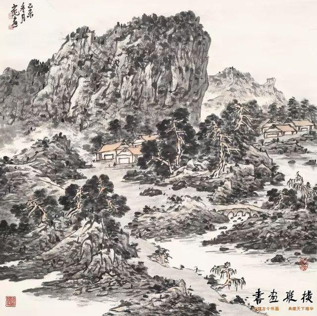 山水图 66x66cm 纸本 2016
