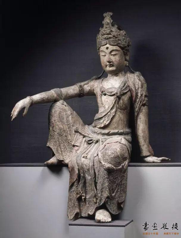 宋 木雕泥塑观音坐像普林斯顿大学艺术博物馆藏