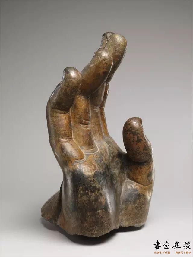 北齐 北响堂山北窟 石雕佛手纽约大都会博物馆藏