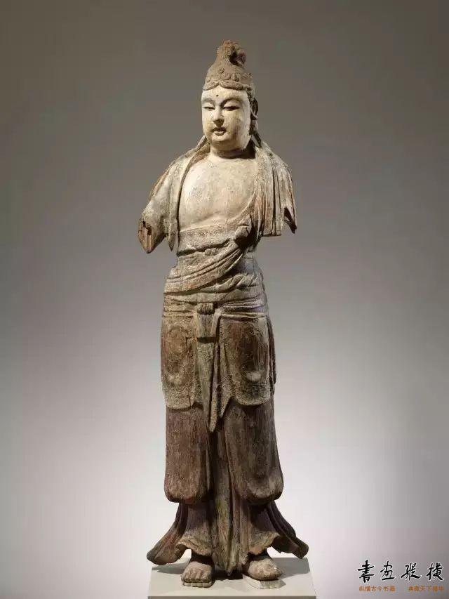 北宋 彩绘木雕菩萨像纽约大都会博物馆藏