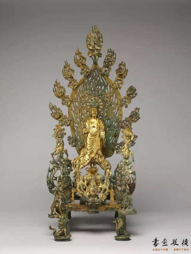 北魏 青铜鎏金弥勒佛像纽约大都会博物馆藏