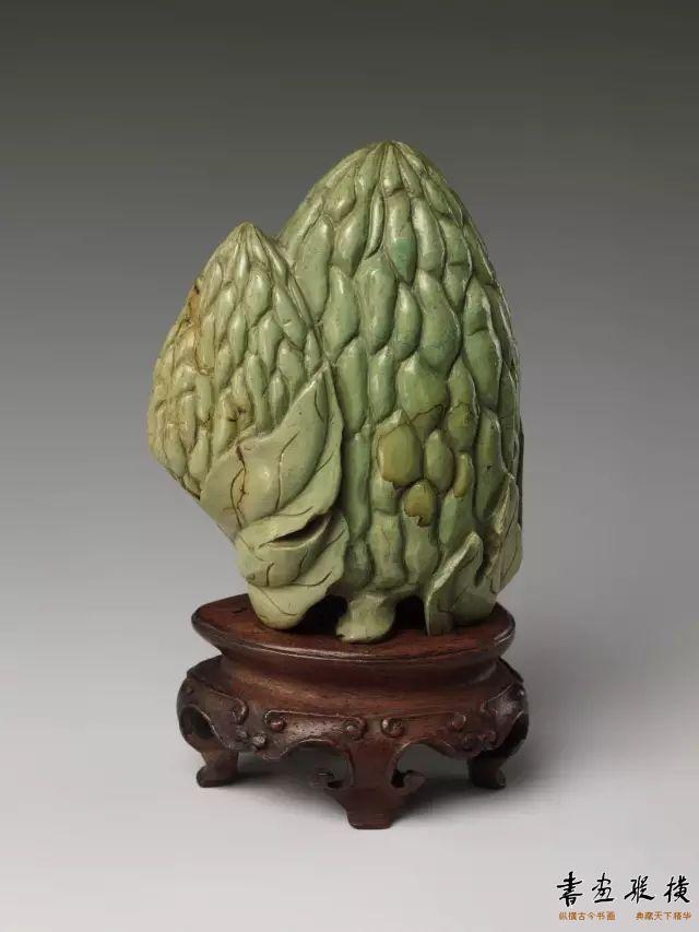 清 松石苦瓜摆件 纽约大都会博物馆藏
