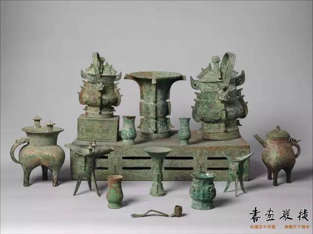 商-西周 青铜礼器套件 纽约大都会博物馆藏