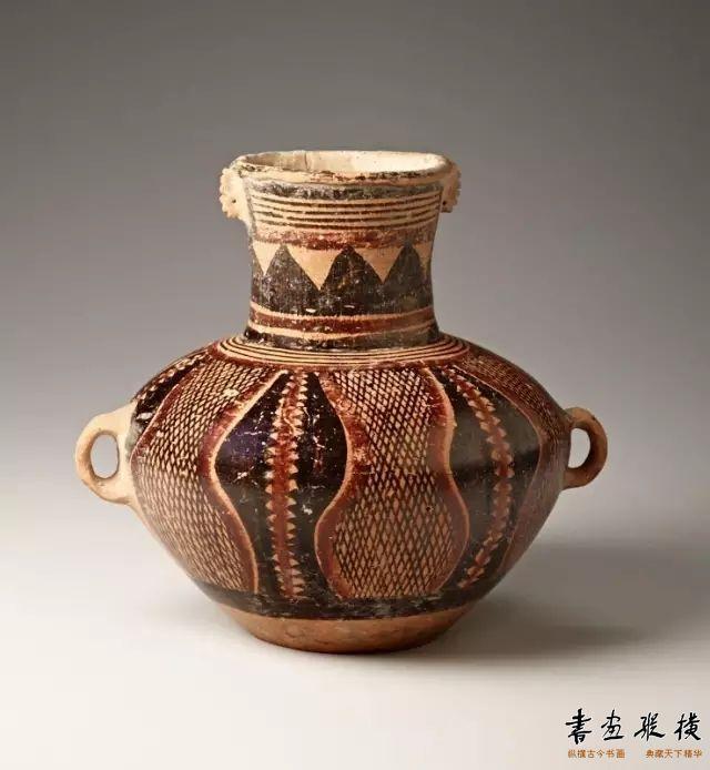 新石器时代 仰韶文化双耳陶罐 斯坦福大学艺术博物馆藏