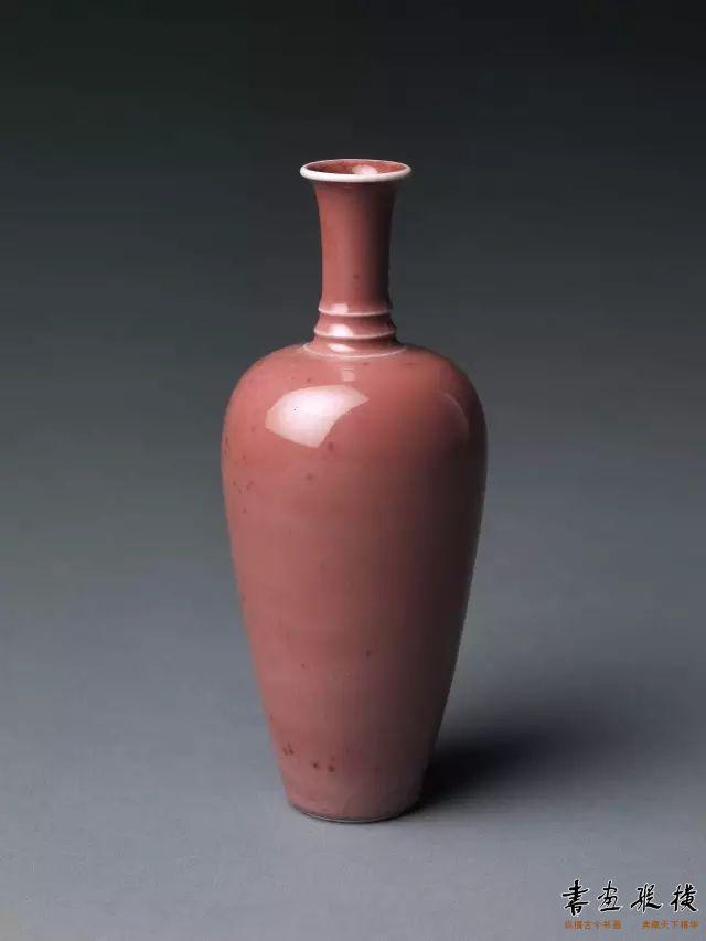 清 桃花釉瓷瓶 纽约大都会博物馆藏