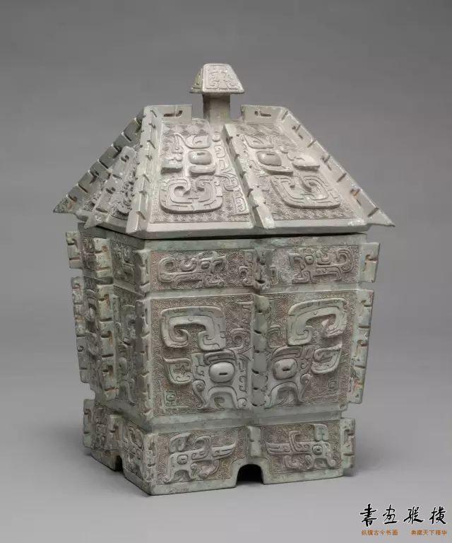 商 饕餮纹青铜方彜 哈佛艺术博物馆藏