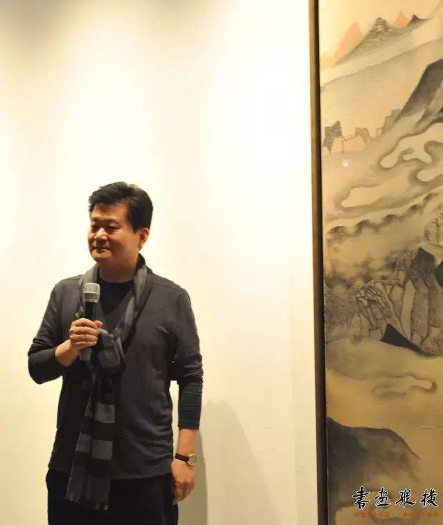 ▲中国书法家协会理事杨中良主持开幕式