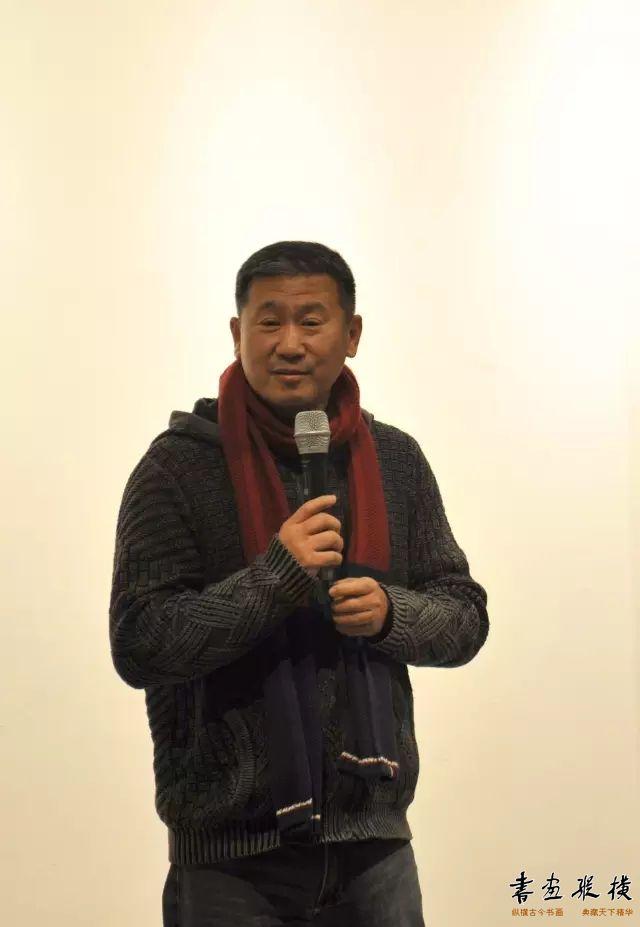 ▲著名拍卖师、艺术评论家刘新惠在开幕式现场发言