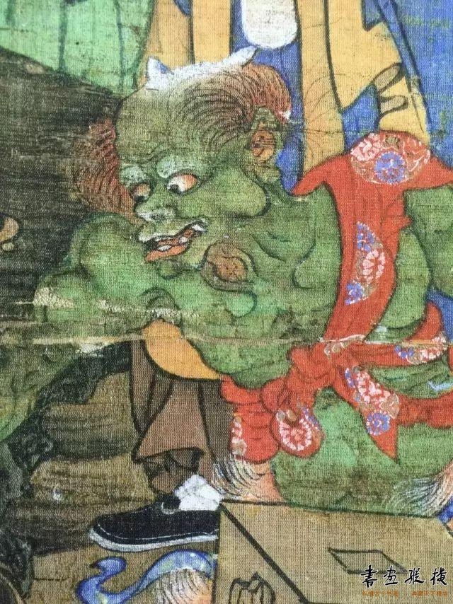 唐宋人描绘力士、鬼怪多用凹凸渲染法